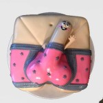 New-Orleans-Bachelorette-Pink-Polka-dot-smiling-Joe-underwear-cake