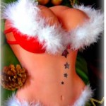 Las-Vegas-Santas-sexy-female-busting-chest-torso-red-bikini-erotic-cake
