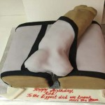 Las-Vegas-Black-and-white-Gigantic-George-bulging-Dick-popping-out-of-underwear-sex-cake