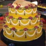 New-Jersey-Newark-Yellow-Flowered-wedding-Jump-out-cake-57