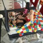 New-Orleans-Louisiana-checker-board-four-in-a-bed-cake